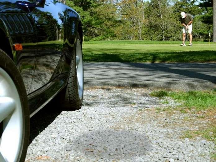 Golfer Kofferraum