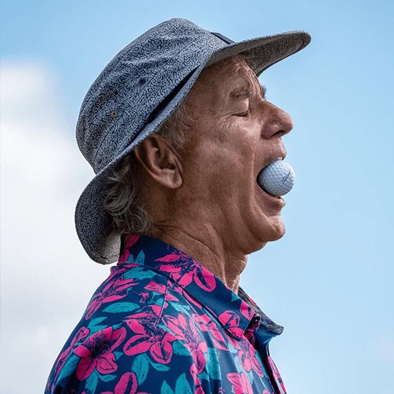 Bill Murray mit Golfball